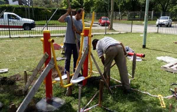 Tigre suma nuevas estaciones aeróbicas en los espacios verdes