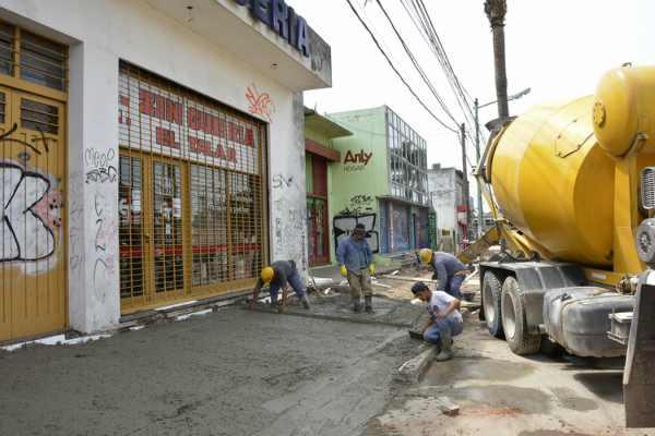 El municipio avanza con la remodelación del centro comercial de El Talar