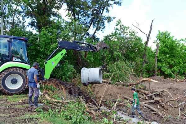 San Fernando realiza una importante obra hidráulica en el predio donde se construirá el Poli N° 10