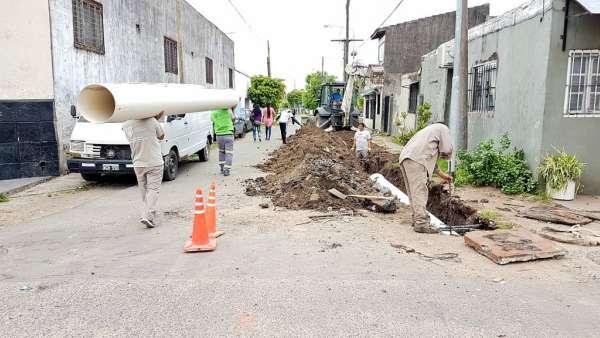 Tigre extiende la colocación de conductos pluviales en el centro de la ciudad