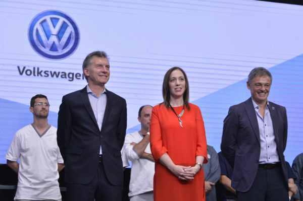 Macri y Vidal participaron de un acto en la empresa Volkswagen de Pacheco