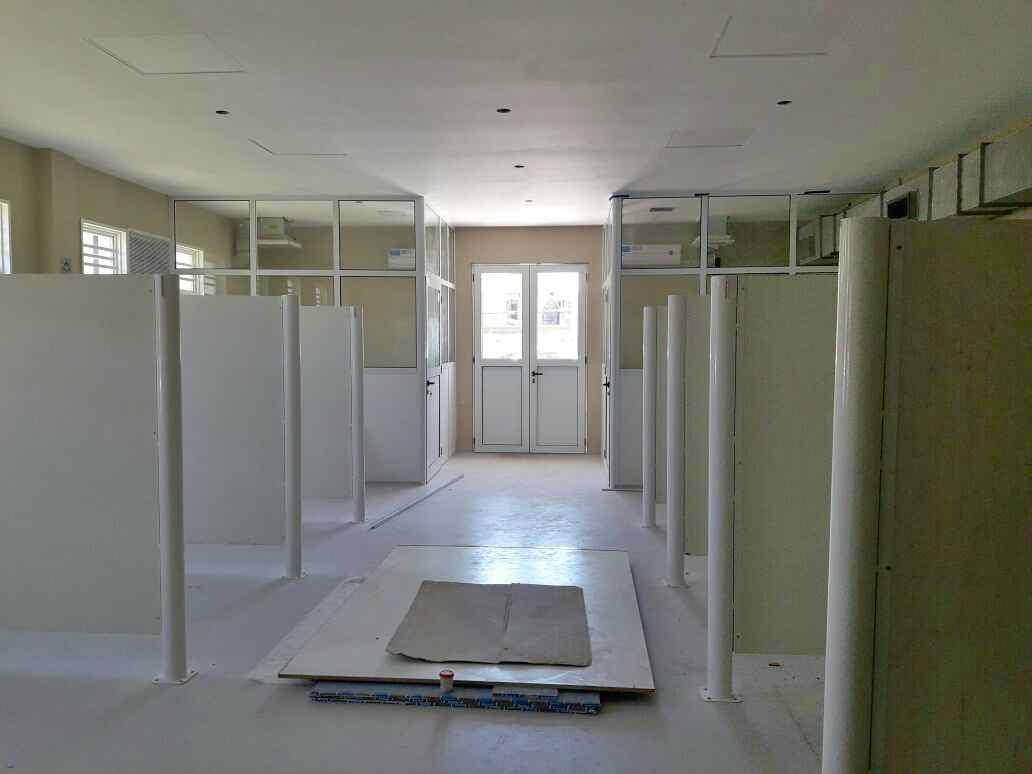 Renovación del área de internación del hospital de Boulogne