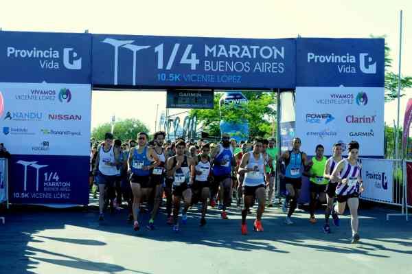 El domingo por la mañana se realizó en el Paseo de la Costa, una nueva edición del Cuarto de maratón Buenos Aires, 10.5 kilómetros Vicente López. Participaron tanto corredores argentinos, como internacionales.