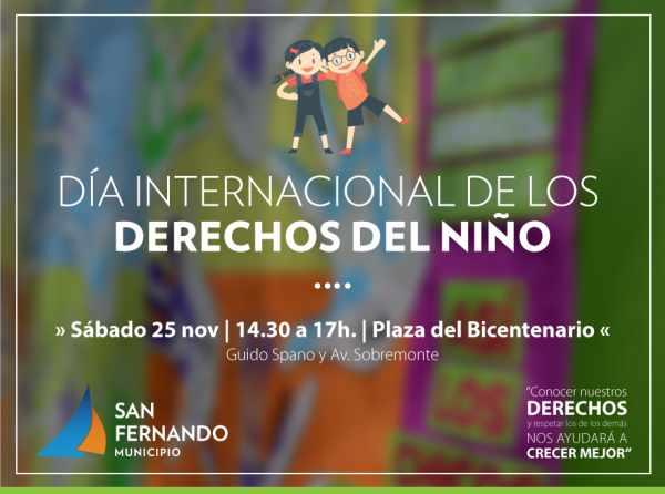 San Fernando festejará el Día de los Derechos del Niño en el Parque del Bicentenario