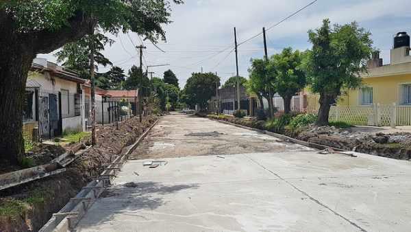 Más calles asfaltadas en Boulogne
