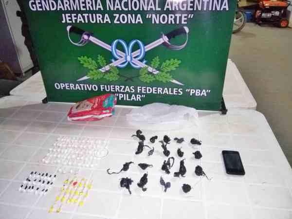 Detención y secuestro de drogas ilícitas en Derqui