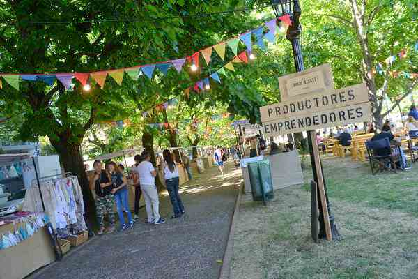 La feria de emprendedores Bondi Market se presento en la plaza San Martín de Tigre