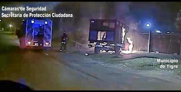 El Sistema de Protección Ciudadana de Tigre controló dos incendios vehiculares