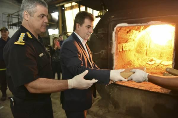 Incineraron más de 700 kilos de marihuana en un horno de Boulogne