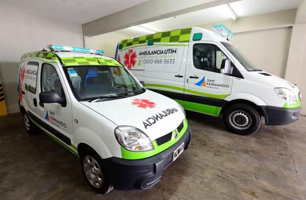 San Fernando sumó una ambulancia cardiológica de alta complejidad y equipos modernos para Emergencias