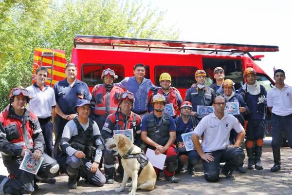 Bomberos de la Provincia de Buenos Aires se capacitaron en Pilar.