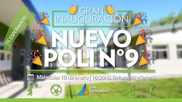 San Fernando inaugurará su 9no. Polideportivo.