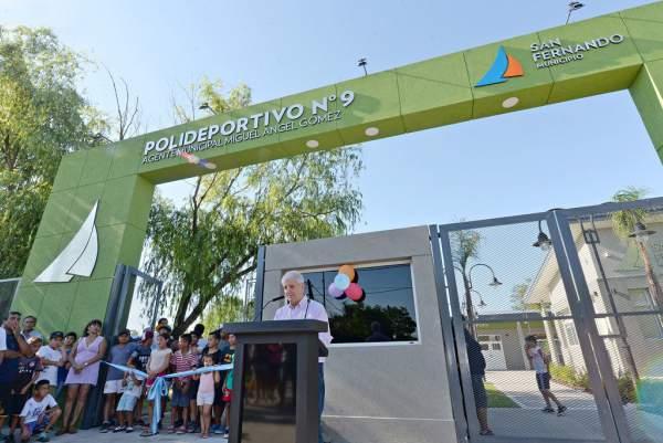Andreotti inauguró el Polideportivo N° 9 de San Fernando.