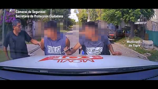 Dos ladrones armados fueron detenidos gracias al sistema BUSCADOR.