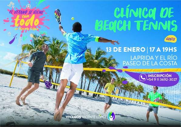 Clínica de Beach Tennis en el Paseo de la Costa.