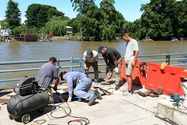Nuevas obras de desagüe en la calle Tedín de Tigre Centro