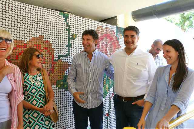 Jorge Macri y Gustavo Posse recorrieron la intervención artística del túnel Paraná
