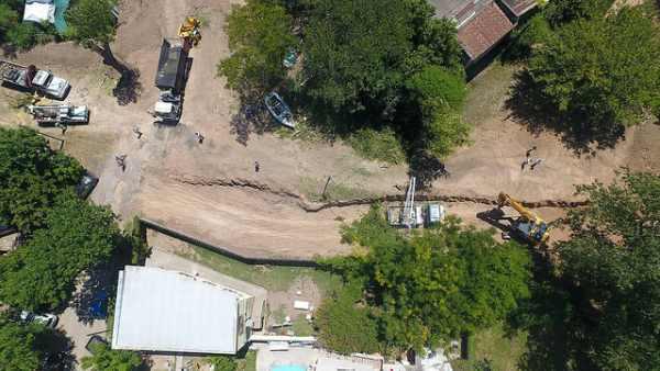 Crean caminos internos en el futuro parque del puerto de San Isidro