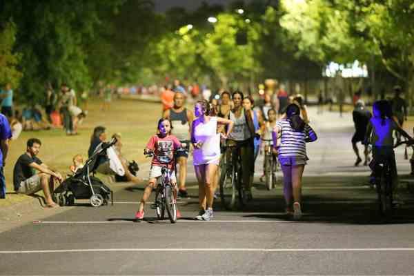 Continúa el Paseo de Bicicletas Nocturno en San Isidro