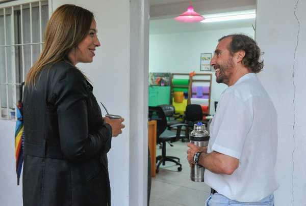 Vidal visitó un comedor comunitario en Tigre