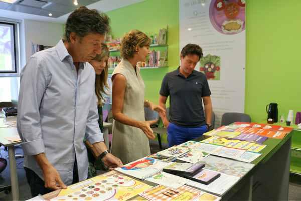 Posse y Sánchez Zinny visitaron una fundación de educación alimentaria