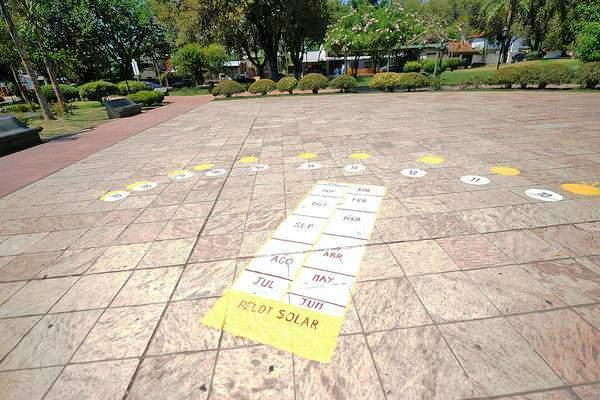 Don Torcuato inauguró el primer reloj solar de Tigre