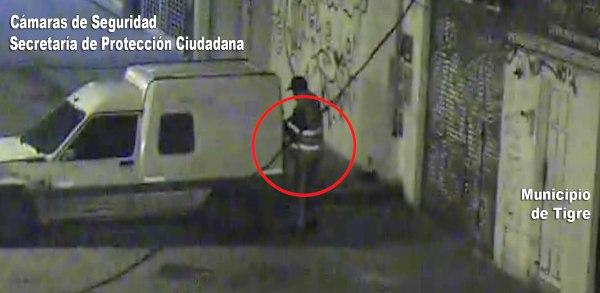 Las cámaras de Tigre lo filmaron cuando intentaba robar una camioneta