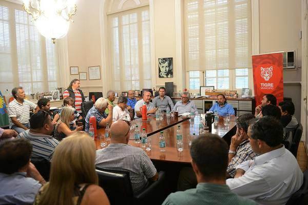 Julio Zamora recibió a la Mesa Sindical del Proyecto Nacional Zona Norte