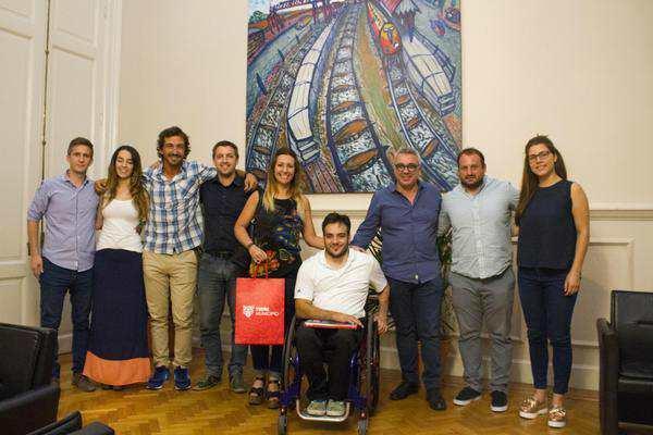 Con eje en la inclusión, Julio Zamora recibió a un jugador de Quad Rugby que representará al municipio en Brasil