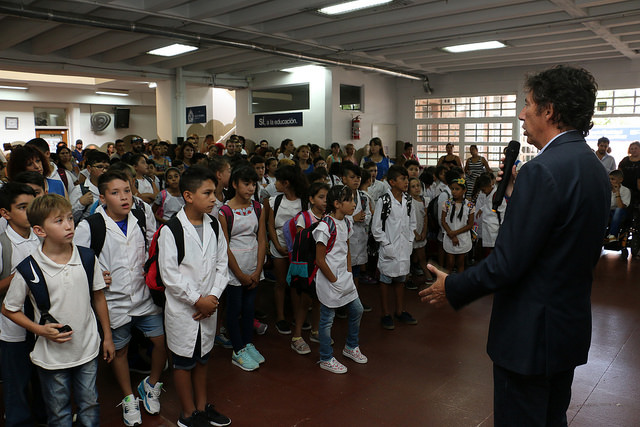 """El intendente de San Isidro, Gustavo Posse, presidió hoy los actos por el inicio de un nuevo ciclo lectivo en la Escuela provincial Nº11 """"Gral. Manuel Belgrano"""""""