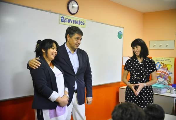 Jorge Macri encabezó el inicio de año lectivo, en la Escuela Manuel Dorrego