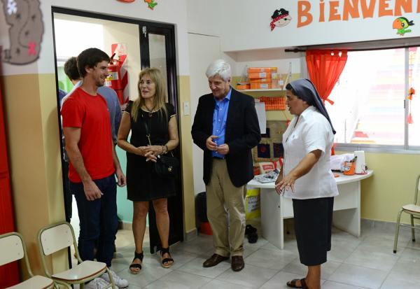 Andreotti participó del acto del inicio de clases en la Escuela San Rafael