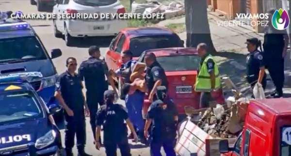 Persecución y detención en Vicente López