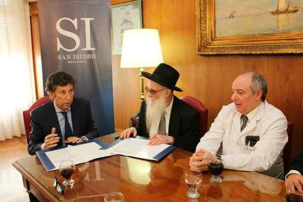 San Isidro firmó un convenio con el Beit Jabad Zona Norte