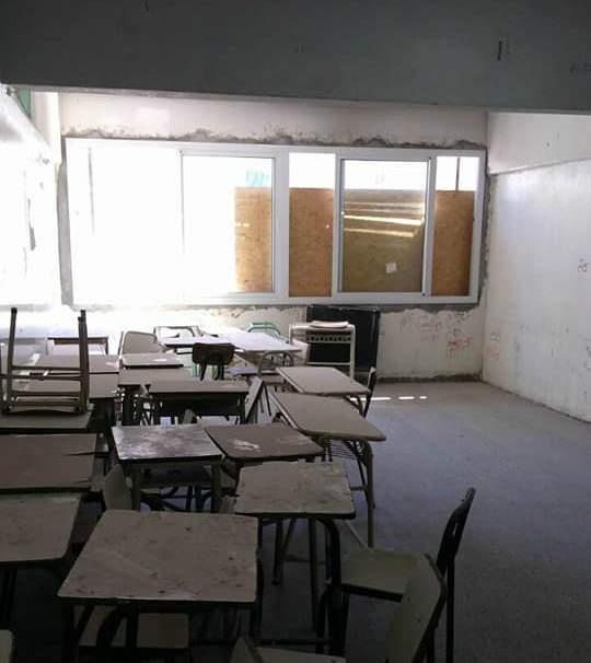 Alumnos de la Técnica 5 de Tigre sin clases por demoras en las obras