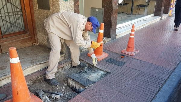 Reparan veredas en Tigre centro