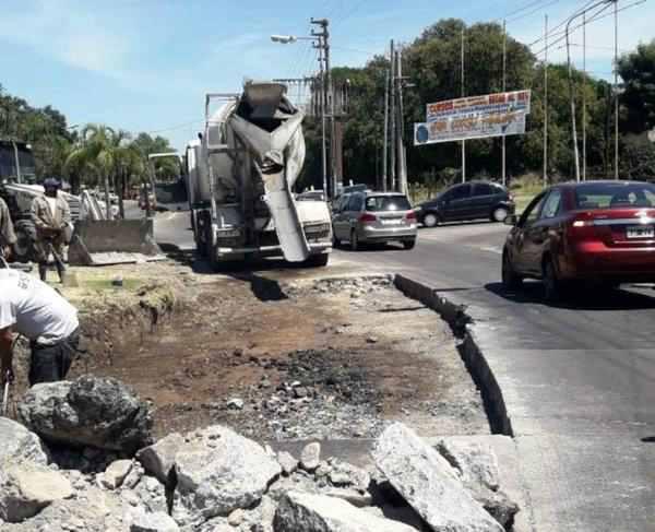 Tigre avanza con la reparación de la Avenida de los Constituyentes
