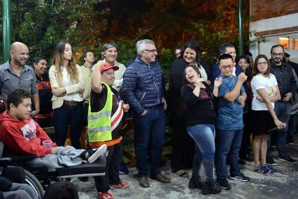 Julio Zamora participó de la jornada de concientización por los derechos de personas con discapacidad