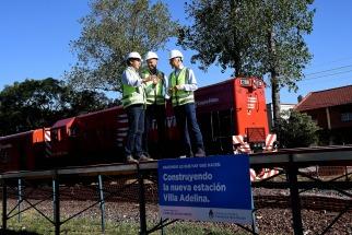 Dietrich recorrió obras para renovar estaciones del Belgrano Norte