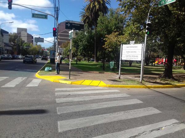 Continúan los trabajos de demarcación vial en Tigre centro