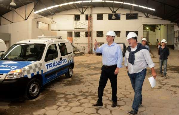 Jorge Macri recorrió la obra de la futura Central de Tránsito de Vicente López
