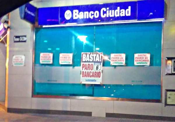 Bancarios cumplieron paro de 24 horas y ya analizan nueva huelga de dos días