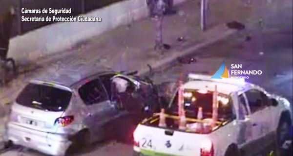 San Fernando: joven choca violentamente y por fortuna sale ileso en la Ruta 202