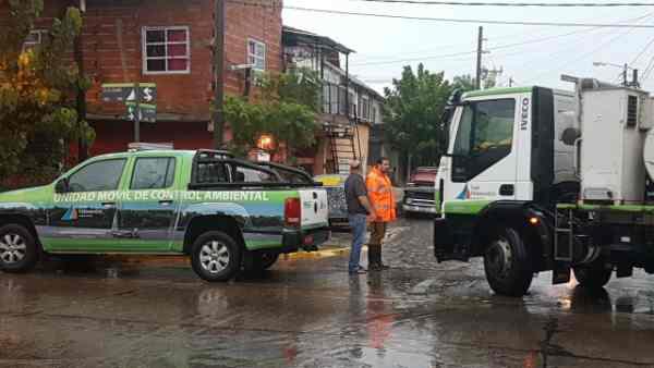 San Fernando desplegó un gran operativo frente al fuerte temporal