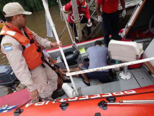 Un hombre sufrió un paro cardiorespitario en medio de una regata en Tigre y debió ser socorrido