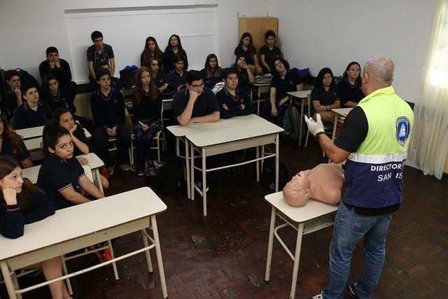 Alumnos del colegio San Isidro aprendieron técnicas de RCP