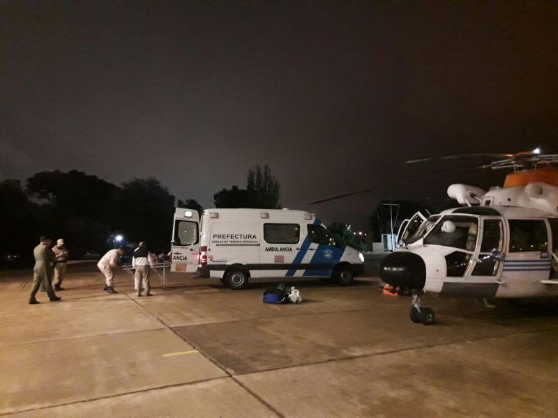 Prefectura rescata a un hombre que se ahogaba en el Río de la Plata