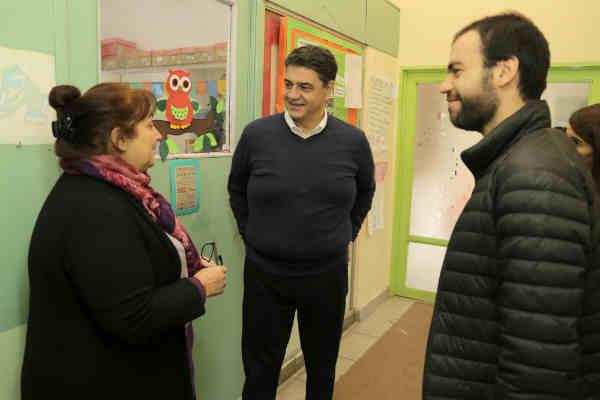 Jorge Macri recorrió las mejoras en el Jardín de Infantes Nº 911