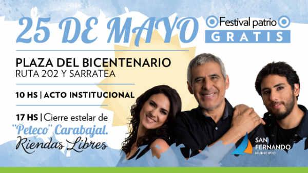 San Fernando celebra el aniversario 208 de la Revolución de Mayo