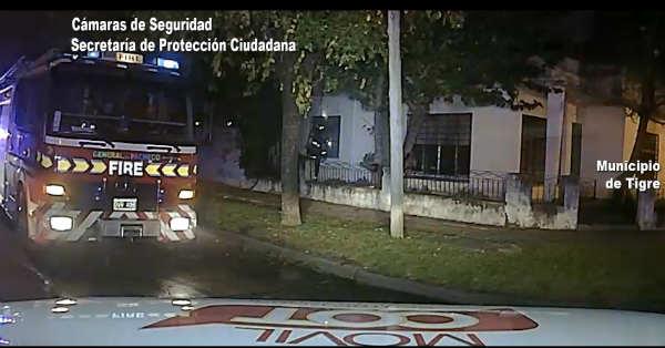 El COT rescató a dos mujeres de un incendio en una vivienda de General Pacheco